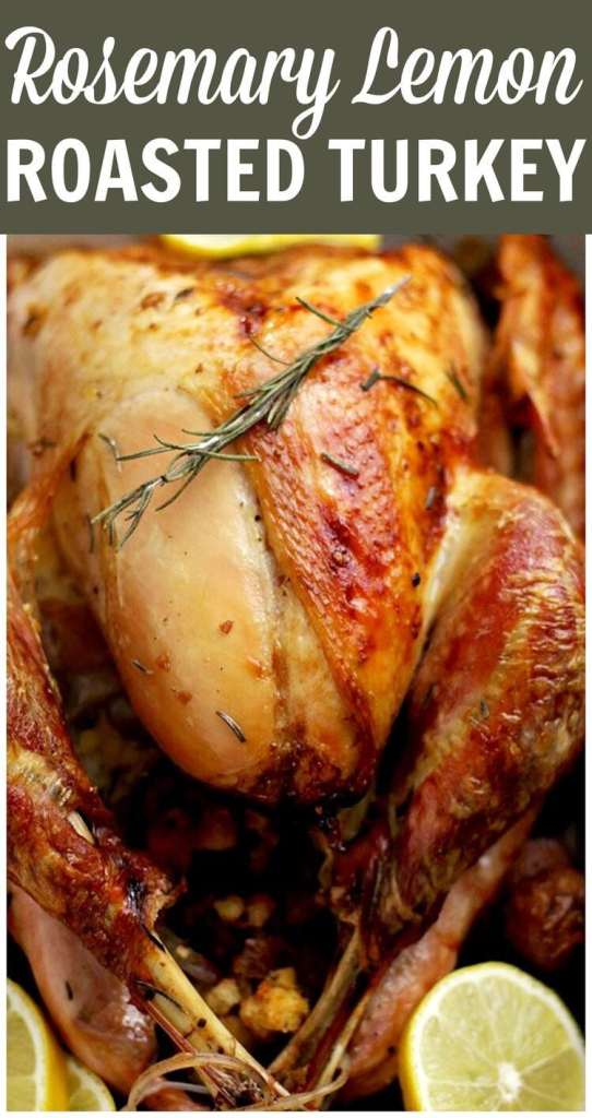 Thanksgiving turkey recipes: Rosemary Lemon Roasted Turkey