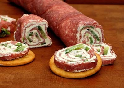 Keto snacks on the go: Salami and Cream Cheese Roll-ups