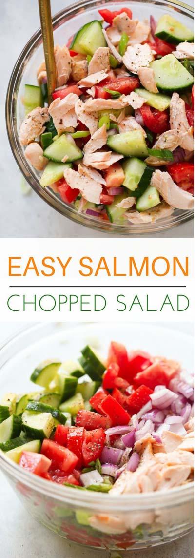 Healthy salad recipes: Salmon Chopped Salad Recipe