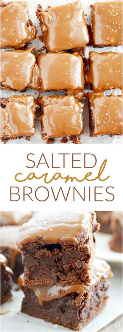Easy caramel dessert recipes: Salted Caramel Brownies