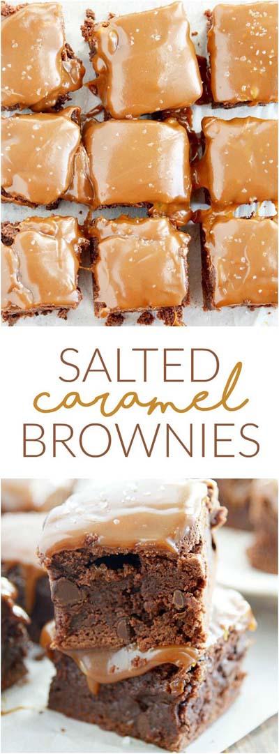 Easy caramel dessert recipes: Salted Caramel Brownies