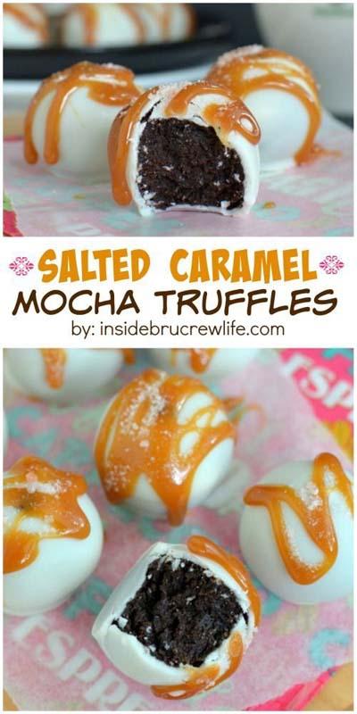 Truffle Dessert Recipes: Salted Caramel Mocha Truffles