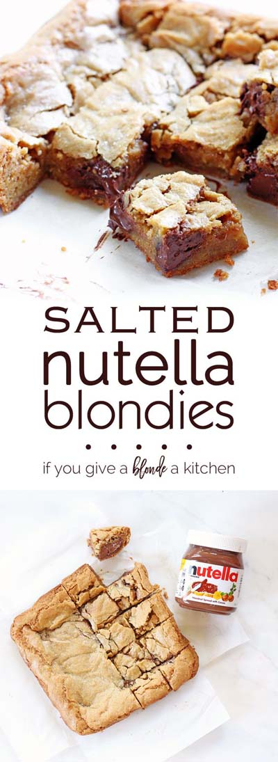 Salted Nutella Blondies