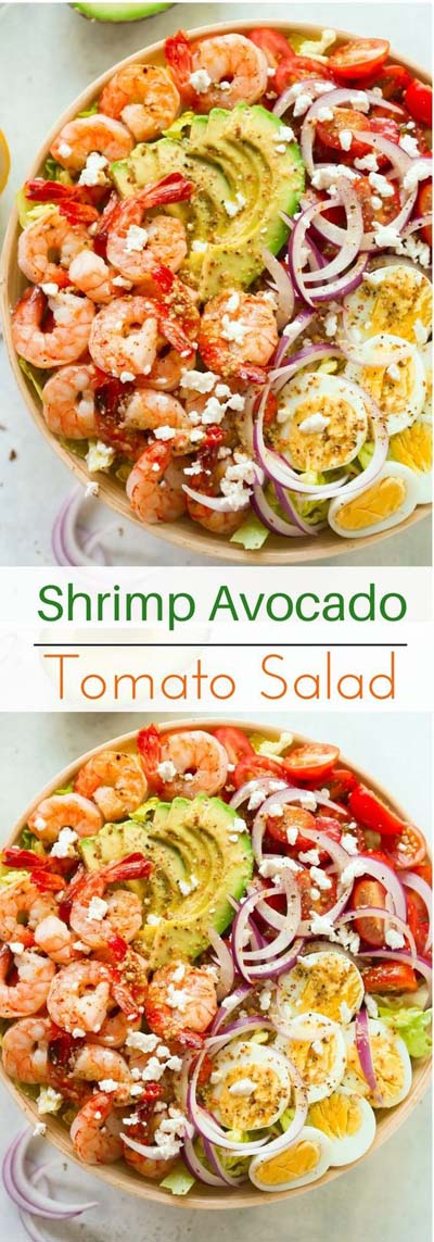 Healthy salad recipes: Shrimp Avocado Tomato Salad Recipe
