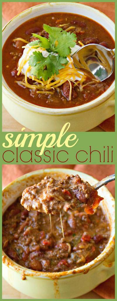 Chili Recipes: Simple Classic Chili