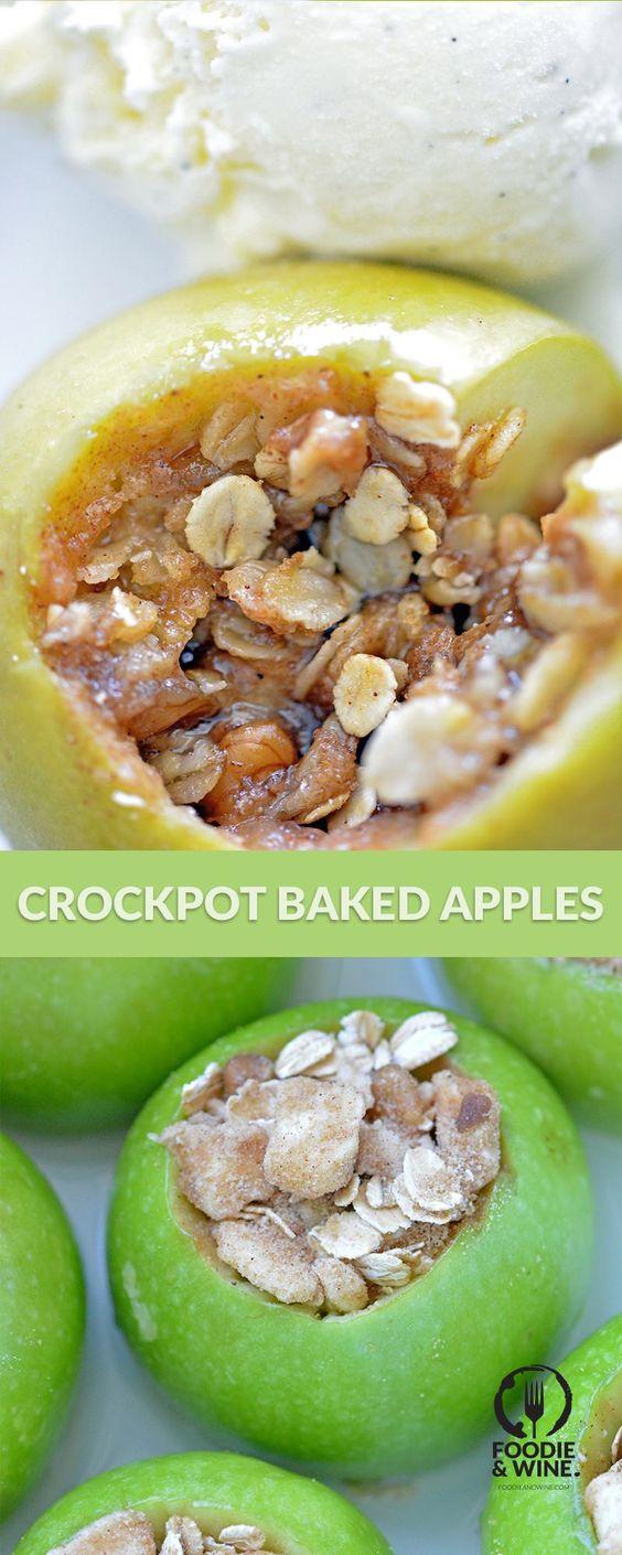 Thanksgiving Desserts: Slow Cooker Baked Apples