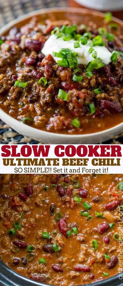 Chili Recipes: Slow Cooker Beef Chili