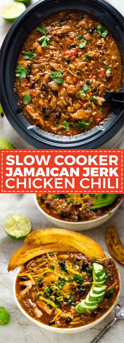 Chili Recipes: Slow Cooker Jamaican Jerk Chicken Chili