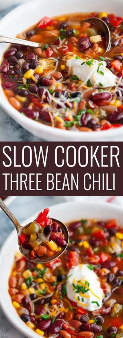 Chili Recipes: Slow-Cooker Three Bean Chili