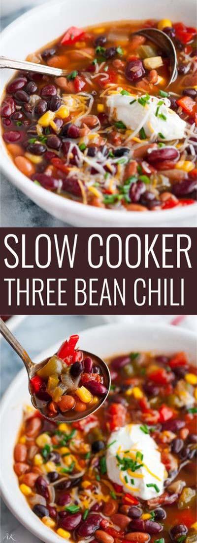 Chili Recipes: Slow-Cooker Three Bean Chili