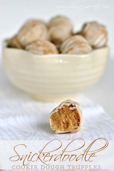 Truffle Dessert Recipes: Snickerdoodle Cookie Dough Truffles