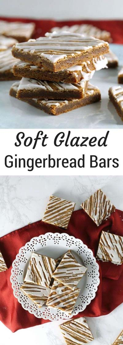 Christmas Gingerbread Recipes: Soft Glazed Gingerbread Bars