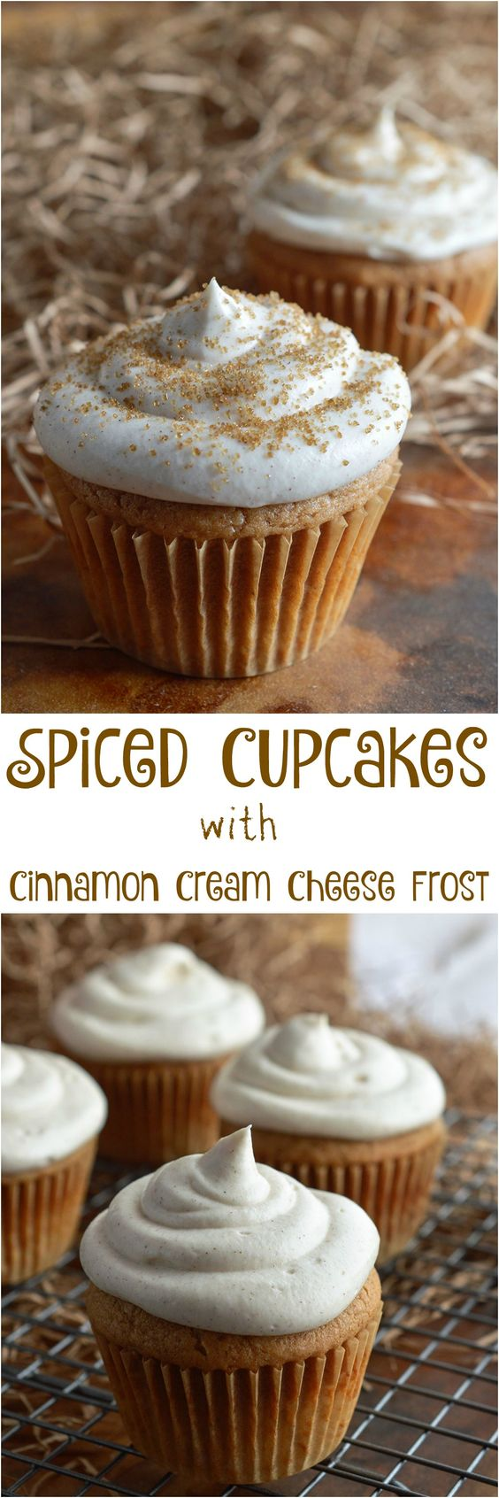 Thanksgiving Desserts: Spiced Cupcakes with Cinnamon Cream Cheese Frosting