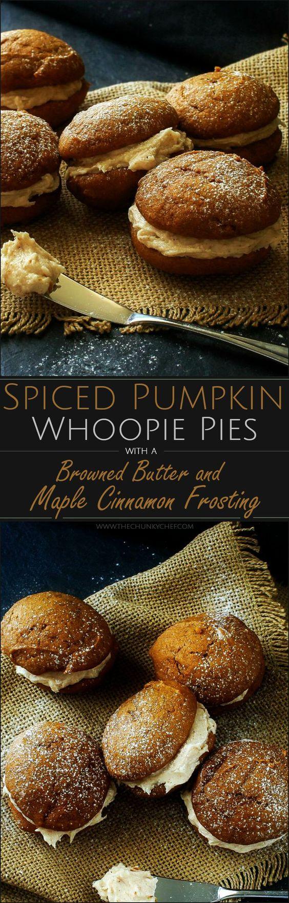 Thanksgiving Desserts: Spiced Pumpkin Whoopie Pies