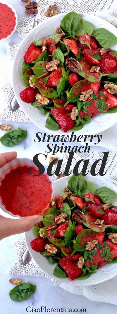 Healthy salad recipes: Strawberry Spinach Salad