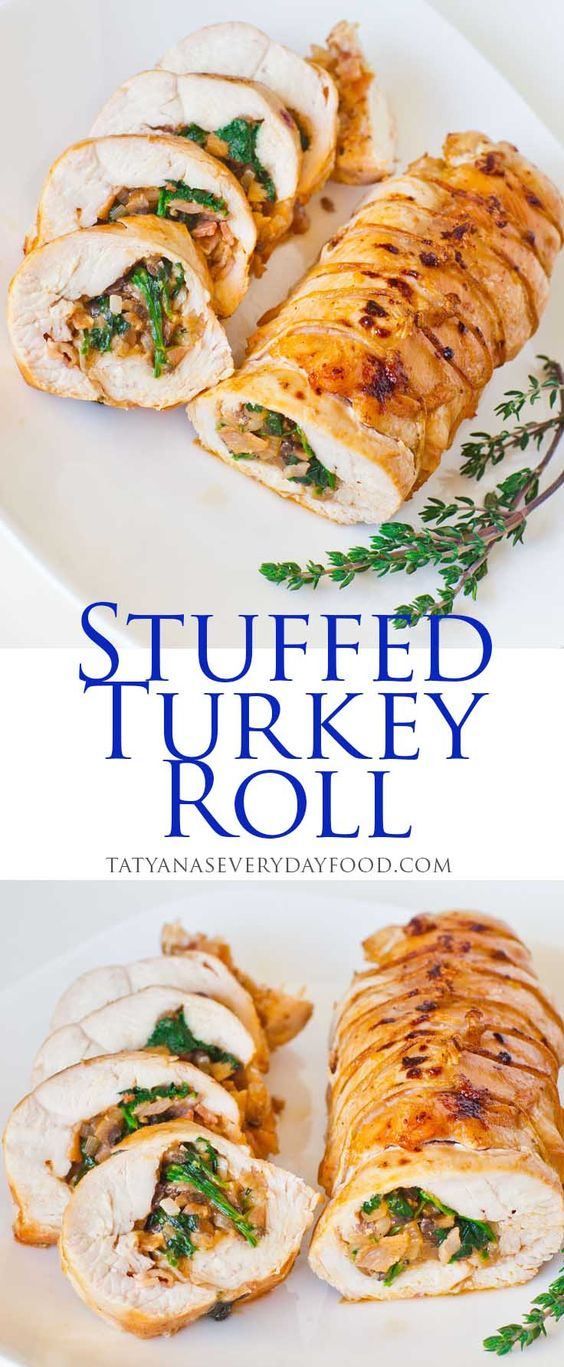 Thanksgiving turkey recipes: Stuffed Turkey Roll