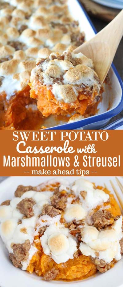 Christmas Dinner Recipes: Sweet Potato Casserole With Marshmallow & Pecan Streusel