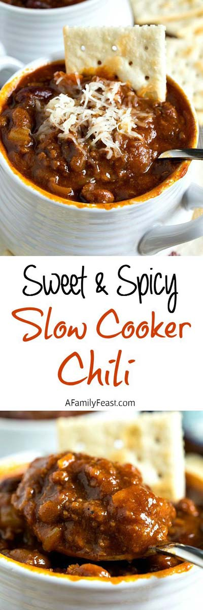 Chili Recipes: Sweet & Spicy Slow-Cooker Chili