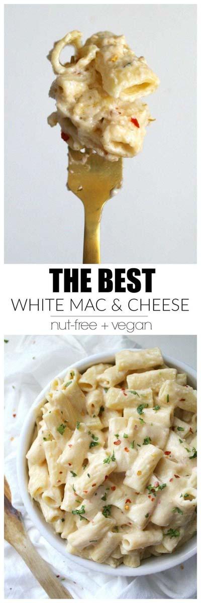 Vegan Pasta Recipes: The Best White Mac & Cheese
