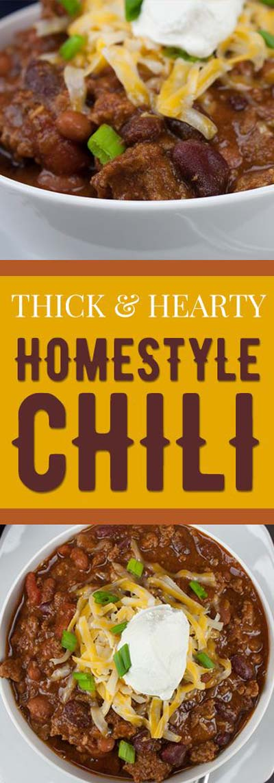 Chili Recipes: Thick and Hearty Homestyle Chili
