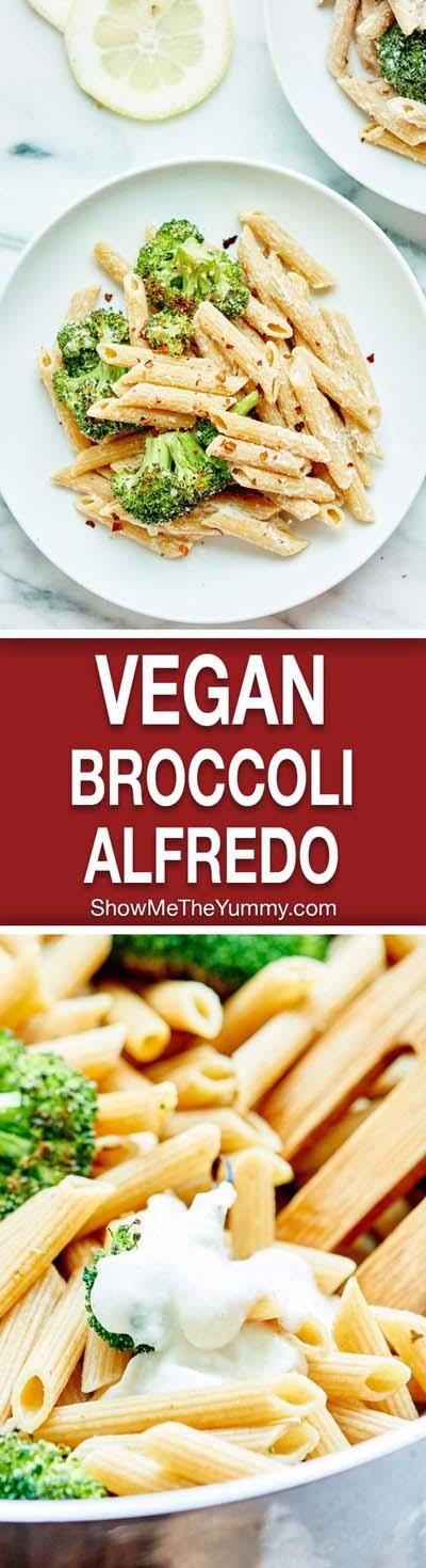 Vegan Pasta Recipes: Vegan Alfredo With Broccoli