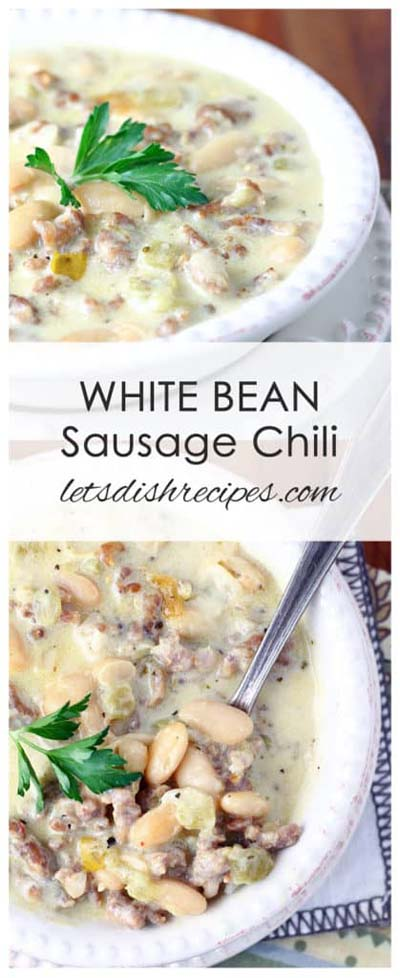 Chili Recipes: White Bean Sausage Chili