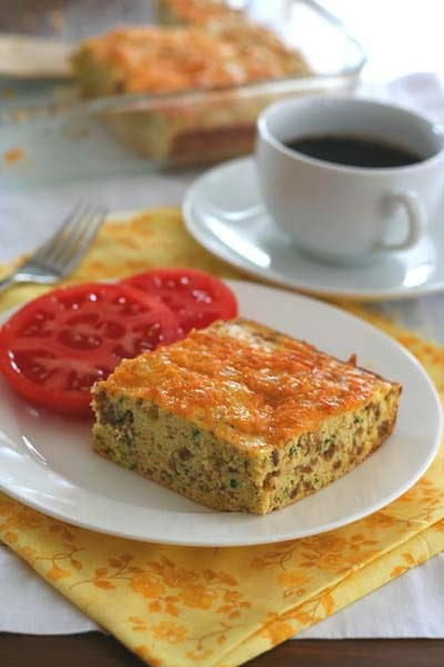 Keto Casserole Recipes: Zucchini Sausage Breakfast Bake