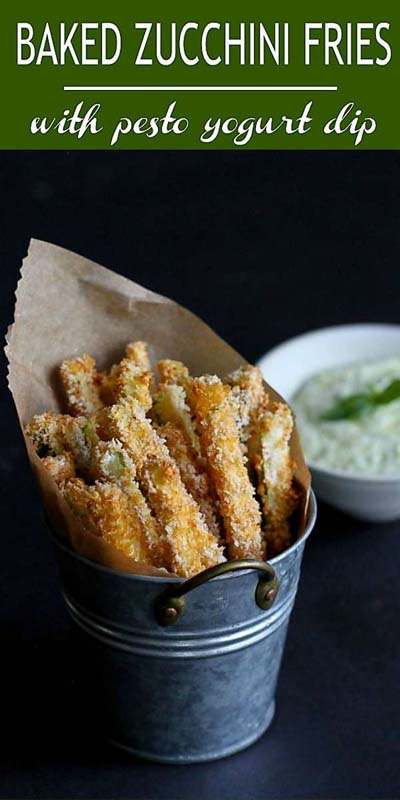 Party finger foods and party appetizers: Baked Zucchini Fries