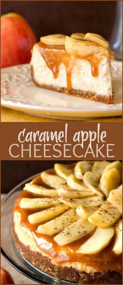 Apple dessert recipes: Caramel Apple Cheesecake