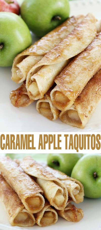 Apple dessert recipes: Caramel Apple Taquitos