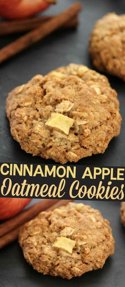 Apple dessert recipes: Cinnamon Apple Oatmeal Cookies