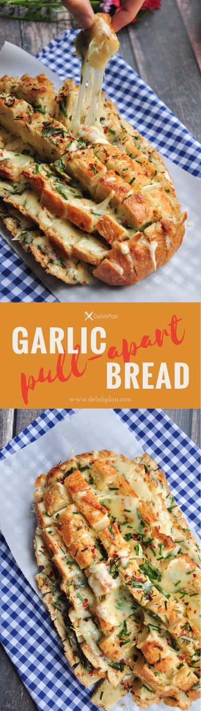 Party finger foods and party appetizers: Garlic Pull-Apart Bread