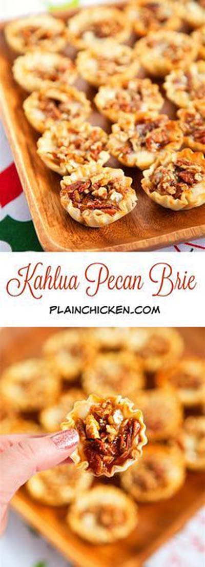 Party finger foods and party appetizers: Kahlua Pecan Brie