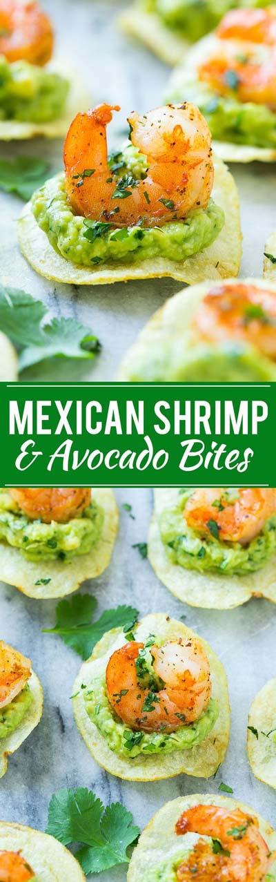 Party finger foods and party appetizers: Mexican Shrimp Bites