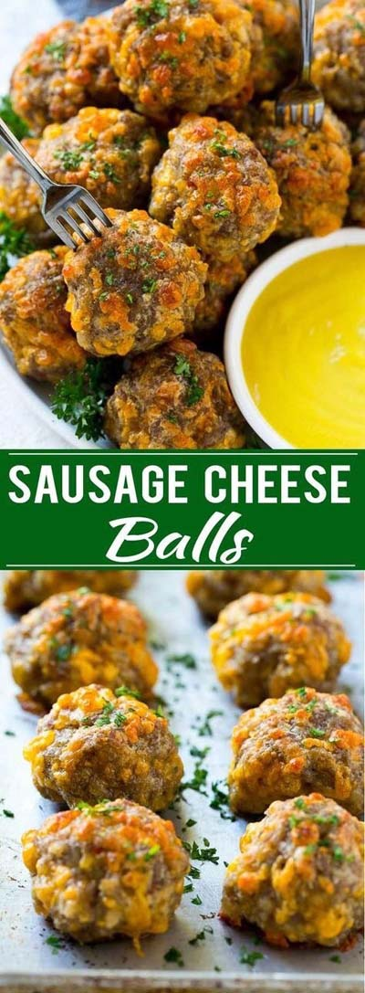 Party finger foods and party appetizers: Sausage Cheese Balls