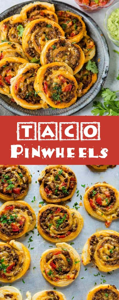 Party finger foods and party appetizers: Taco Pinwheels