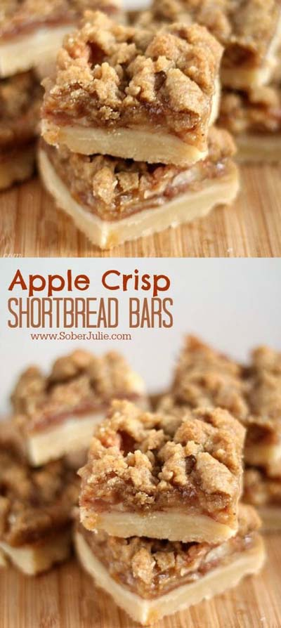 Apple dessert recipes: The Best Apple Crisp Shortbread Bars Recipe