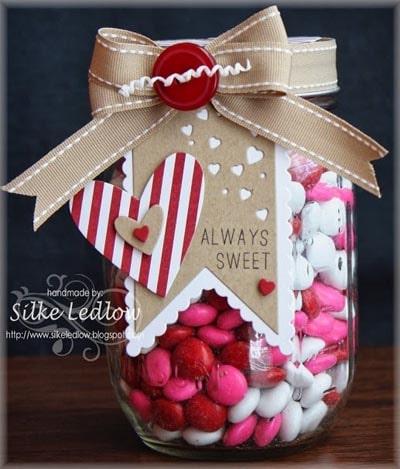 Valentines Day Mason Jar Gifts: Always Sweet Mason Jar