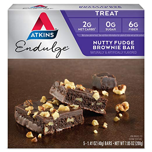 Keto Desserts You Can Buy: Atkins Nutty Fudge Brownie Bar