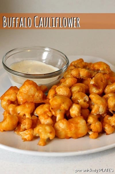 Healthy Super Bowl Snacks: Baked Buffalo Cauliflower Bites