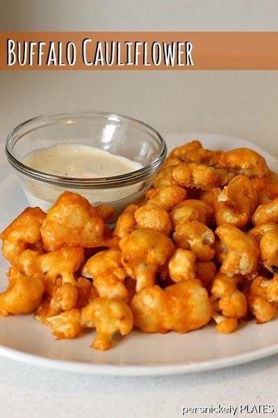 Healthy Super Bowl Snacks: Baked Buffalo Cauliflower Bites