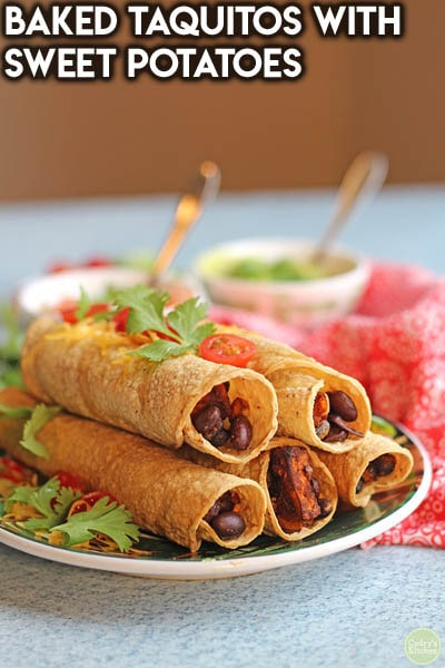Healthy Super Bowl Snacks: Baked Taquitos With Sweet Potatoes