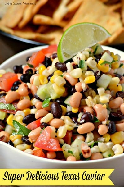 Healthy Super Bowl Snacks: Best Ever Texas Caviar Dip Appetizer