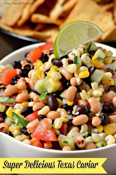 Healthy Super Bowl Snacks: Best Ever Texas Caviar Dip Appetizer