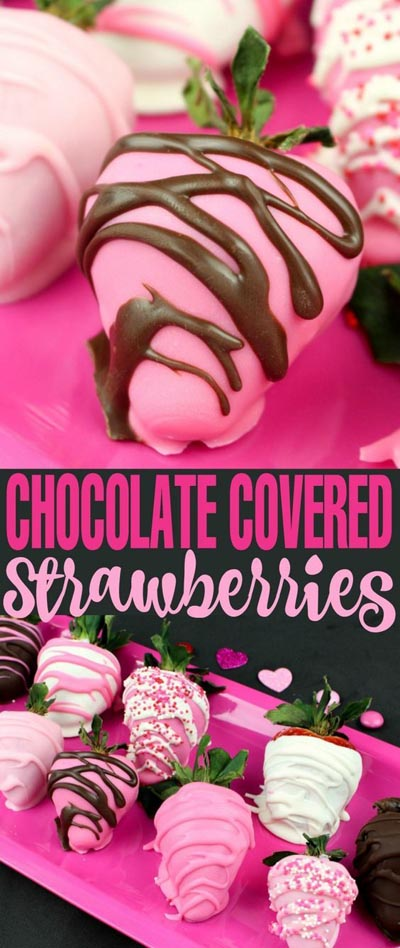 Valentines Day Treats: Chocolate Covered Strawberries