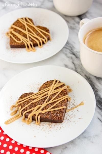 Valentines Day Treats: Fudgy Brownie Hearts with Espresso Glaze