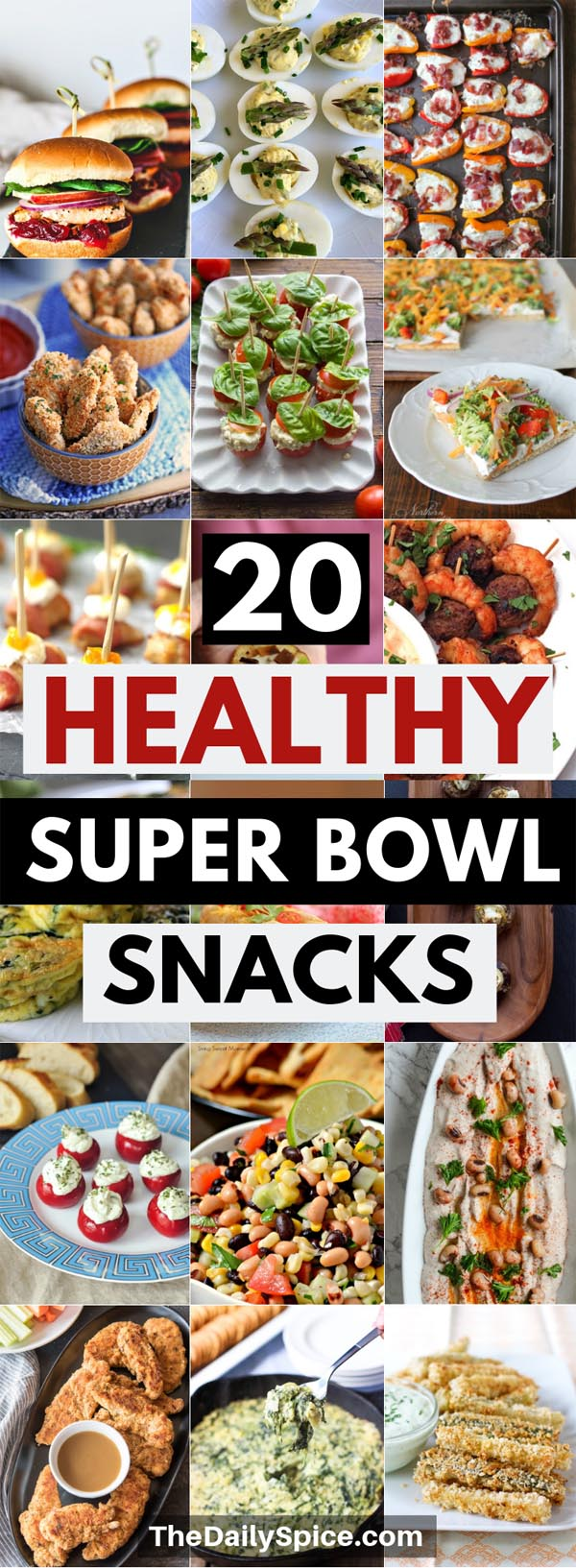 Healthy super bowl snacks