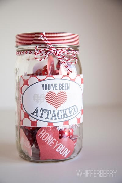 Valentines Day Mason Jar Gifts: Heart Attack Printables