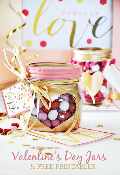 Valentines Day Mason Jar Gifts: Heart Mason Jar