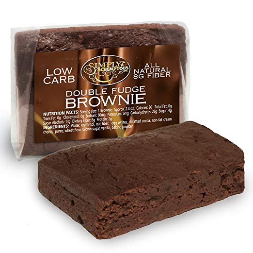 Keto Desserts You Can Buy: Low Carb Fat Free Double Fudge Brownies